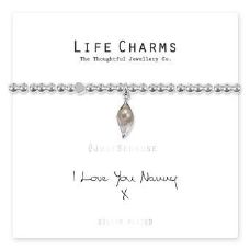 "Life Charms Bracelet - "" I Love You Nanny x "" - Beautifully Gift Boxed"